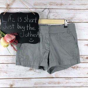 J. Crew Factory Chino gray cotton shorts***